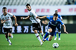 FC Schalke Midfielder Yevhen Konoplyanka (R) fights for the ball with Besiktas Istambul Midfielder Tolgay Arslan (C) during the Friendly Football Matches Summer 2017 between FC Schalke 04 Vs Besiktas Istanbul at Zhuhai Sport Center Stadium on July 19, 2017 in Zhuhai, China. Photo by Marcio Rodrigo Machado / Power Sport Images