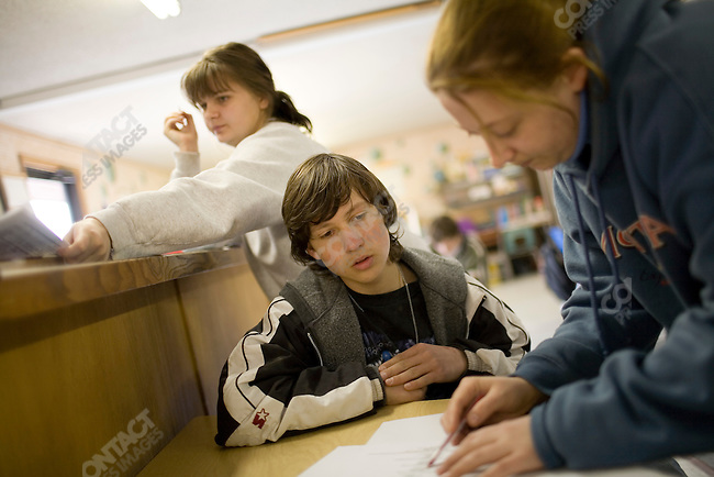 Vlad is enrolled at the Ranch for Kids, a therapeutic boarding school located near Eureka, Montana for adopted foreign children who are experiencing difficulties, such as adoption disruption, with their new U.S. families. Montana, March 1, 2008. .