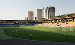 Alashkert FC v St Johnstone...02.07.15   Republican Stadium, Yerevan, Armenia....UEFA Europa League Qualifier.<br /> The two teams warm-up prior to kick off<br /> Picture by Graeme Hart.<br /> Copyright Perthshire Picture Agency<br /> Tel: 01738 623350  Mobile: 07990 594431