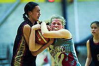 Action from the 2019 Schick AA Girls' Secondary Schools Basketball Premiership National Championship match between Baradene College and Westlake Girls' High School at the Central Energy Trust Arena in Palmerston North, New Zealand on Monday, 30 September 2019. Photo: Dave Lintott / lintottphoto.co.nz