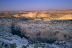 Sunrise light on slickrock formations Grand Staircase Escalante Nat'l. Mon. SR 12 Scenic Byway, UTAH