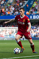 Liverpool's Andrew Robertson in action <br /> <br /> Photographer Craig Mercer/CameraSport<br /> <br /> The Premier League - Chelsea v Liverpool - Sunday 6th May 2018 - Stamford Bridge - London<br /> <br /> World Copyright &copy; 2018 CameraSport. All rights reserved. 43 Linden Ave. Countesthorpe. Leicester. England. LE8 5PG - Tel: +44 (0) 116 277 4147 - admin@camerasport.com - www.camerasport.com