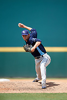 Charlotte Stone Crabs relief pitcher Trevor Charpie (37) delivers a pitch during a game against the Bradenton Marauders on June 3, 2018 at LECOM Park in Bradenton, Florida.  Charlotte defeated Bradenton 10-1.  (Mike Janes/Four Seam Images)