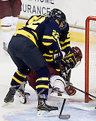 Brendan Ellis (Merrimack - 22), Johnny Gaudreau (BC - 13) - The Boston College Eagles defeated the visiting Merrimack College Warriors 4-3 on Friday, November 16, 2012, at Kelley Rink in Conte Forum in Chestnut Hill, Massachusetts.