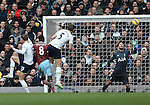 Tottenham's Hugo Lloris watches in vain as West Ham's Cheikhou Kouyate scores his sides opening goal<br /> <br /> Barclays Premier League - Tottenham Hotspur  vs West Ham  - White Hart Lane - England - 22nd February 2015 - Picture David Klein/Sportimage