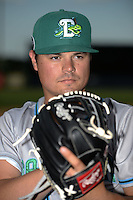 Daytona Tortugas pitcher Nick Travieso (21) poses for a photo before a game against the Tampa Yankees on April 24, 2015 at George M. Steinbrenner Field in Tampa, Florida.  Tampa defeated Daytona 12-7.  (Mike Janes/Four Seam Images)