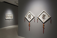 Pearl Lam Galleries showing work by artist Gonkar Gyatso during the Pop Phraseology in Hong Kong on 17 Sept 2014. Photo by Jerome Favre / studioEAST