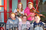 Enjoying the busking competitions at the Trad Fe?ie in Athea on Friday were front l-r Maria and Kaye Lee  O'Connell and Ian Sheehy.  Back l-r Laura Sheehy and Jean Scannell.....   Copyright Kerry's Eye 2008