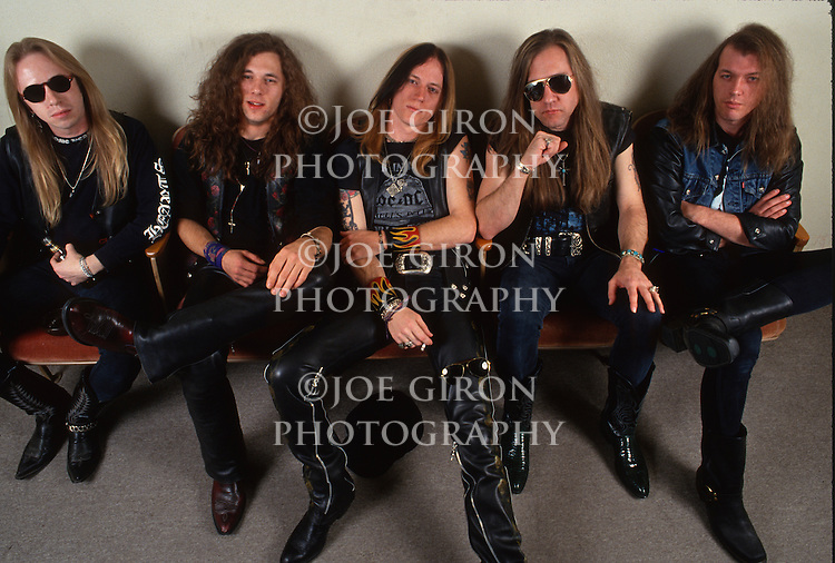 Various portraits & live photographs of the rock band, Dangerous Toys