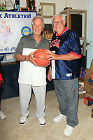 LOS ANGELES - JUN 1:  Pat Boone, 83, Bob Messersmith, 84 at the National Senior Games Press Conference at the Pat Boone Enterprises on June 1, 2017 in West Hollywood, CA
