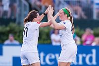 Boston, MA - Friday August 04, 2017: Christina Gibbons, Maegan Kelly during a regular season National Women's Soccer League (NWSL) match between the Boston Breakers and FC Kansas City at Jordan Field.