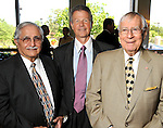 From left: Adan Trevino, Philip Bahr and Gerald Bush at the Men of Distinction Luncheon at the River Oaks Country Club Wednesday May 05,2010.  (Dave Rossman Photo)