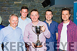 Mossie Lyons, Eoin Brosnan, Alan brady, Cathal Bartlett and Liam Toole at the Killarney Athletic Seven a side 40th anniversary awards night in McSorleys niteclub on Friday night