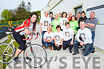 Lorraine O'Sullivan, family and friends launching the Stephanie O'Sullivan memorial cycle in Milltown on Thursday were front row l-r: Betty McCarthy, Siobhain O'Shea, Tom Stephens, Liam Hassett. Back row: Dan Joe O'Sullivan, Nuala Allman, Joan curtin, Pat O'Connor, Bernadette O'sullivan, Dan McCarthy, Sheila Cronin, Stuart stephens, Orla O'Shea and Philip Carey