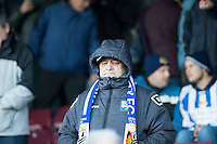 worcester fans<br />  - Scunthorpe United vs Worcester City - FA Challenge Cup 2nd Round Football at Glanford Park, Scunthorpe - 07/12/14 - MANDATORY CREDIT: Mark Hodsman/TGSPHOTO - Self billing applies where appropriate - contact@tgsphoto.co.uk - NO UNPAID USE