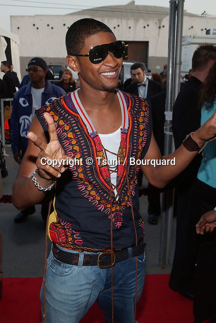 Usher arrives at the 29th Annual American Music Awards at the Shrine Auditorium in Los Angeles Wednesday, Jan. 9, 2002.           -            Usher02A.jpg