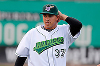 Jamestown Jammers Jose Fernandez #37, the Marlins first round draft choice, before a game against the Mahoning Valley Scrappers at Russell E. Diethrick Jr Park on September 2, 2011 in Jamestown, New York.  Mahoning Valley defeated Jamestown 8-4.  (Mike Janes/Four Seam Images)