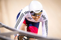 Picture by Alex Whitehead/SWpix.com - 05/03/2016 - Cycling - 2016 UCI Track Cycling World Championships, Day 4 - Lee Valley VeloPark, London, England - Great Britain's Jessica Varnish competes in the Women's Sprint Qualification.