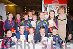 Fybough NS Castlemaine with their cookbook Royal Recipes at the Young Entrepreneur finals in the Malton Hotel on Thursday front row l-r: Cianna Foley, Helen o'Shea, Hannah joy, Luke Benson, Shane Evans. Back row: Sarah Cremins, Amy Kelliher, Fionan griffin, Tadhg Evans, Liam evansm, Keith and brid Ann Evans and Angela prendergast Principal