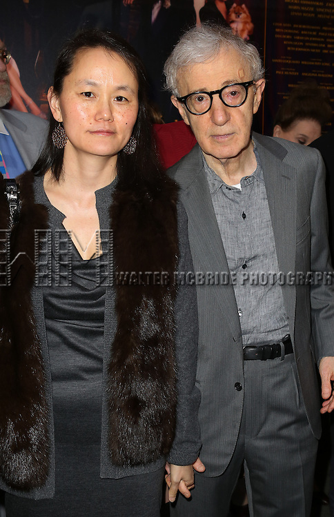 Soon Yi-Previn and Woody Allen attending the Broadway Opening Night Performance of ''Bullets Over Broadway' at the St. James Theatre on April 10, 2014 in New York City.