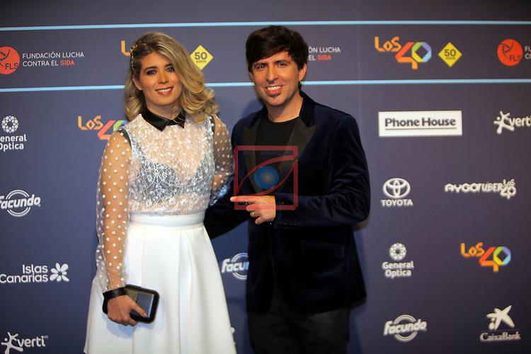 Los 40 MUSIC Awards 2016 - Photocall.<br /> Cristina Bosca &amp; Dani Moreno.