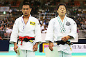 (L to R) Masashi Ebinuma (JPN), Junpei Morishita (JPN), .May 12, 2012 - Judo : .All Japan Selected Judo Championships, Men's -66kg class Final .at Fukuoka Convention Center, Fukuoka, Japan. .(Photo by Daiju Kitamura/AFLO SPORT) [1045]