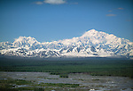View of Denali and Mt. Foraker, Denali National Park, Alaska, USA