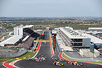 AUSTIN, TEXAS, ESTADOS UNIDOS, 18 NOVEMBRO 2012 - F1 - GP DOS EUA -  Largada durante Grande Premio dos Estados Unidos de Formula, na cidade de Austin no Texas, neste domingo, 18. (FOTO: PIXATHLON / BRAZIL PHOTO PRESS).