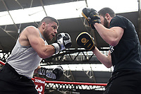 Florian Marku during a Public Workout at Old Spitalfields Market on 9th July 2019