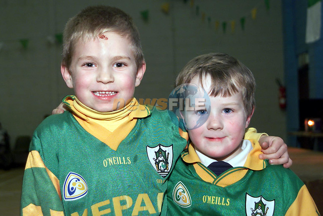 Darren McNulty and Shane Crilly at the party in Stamullen..Picture Paul Mohan Newsfile