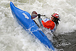 1 June 2007: Japanese kayaker, Mumu Kato,  competes in the Pro Women's Freestyle competition at the Teva Mountain Games, Vail, Colorado.
