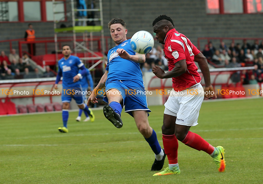 Michael Spillane of Chelmsford City and Aaron McLean of Ebbsfleet United during Ebbsfleet United vs Chelmsford City, Vanarama National League South Play-Off Final Football at The PHB Stadium on 13th May 2017