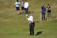 Ray Cawley playing with Padraig Harrington (IRL) on the 1st during the Pro-Am of the Irish Open at Ballyliffin Golf Club, Donegal on Wednesday 4th July 2018.<br /> Picture:  Thos Caffrey / Golffile