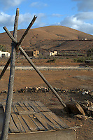 Boarded up water well, Pajara, Fuerteventura, Canary Islands,Spain.