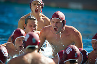 STANFORD, CA - October 9, 2010: Forrest Watkins (10) during a water polo game against USC in Stanford, California. Stanford beat USC 5-3.