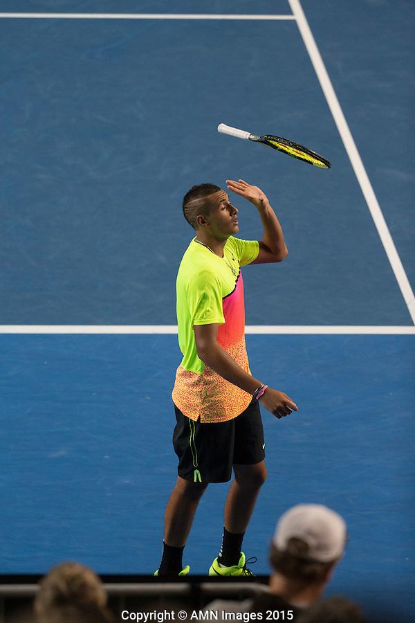 Nick Kyrgios (AUS)<br /> <br /> Tennis - Australian Open 2015 - Grand Slam -  Melbourne Park - Melbourne - Victoria - Australia  - 25 January 2015. <br /> &copy; AMN IMAGES