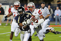 6 December 2008:  FIU wide receiver Jason Frierson (80) pulls in a Paul McCall pass for a touchdown in the fourth quarter of the FIU 27-3 victory over Western Kentucky at FIU Stadium in Miami, Florida.