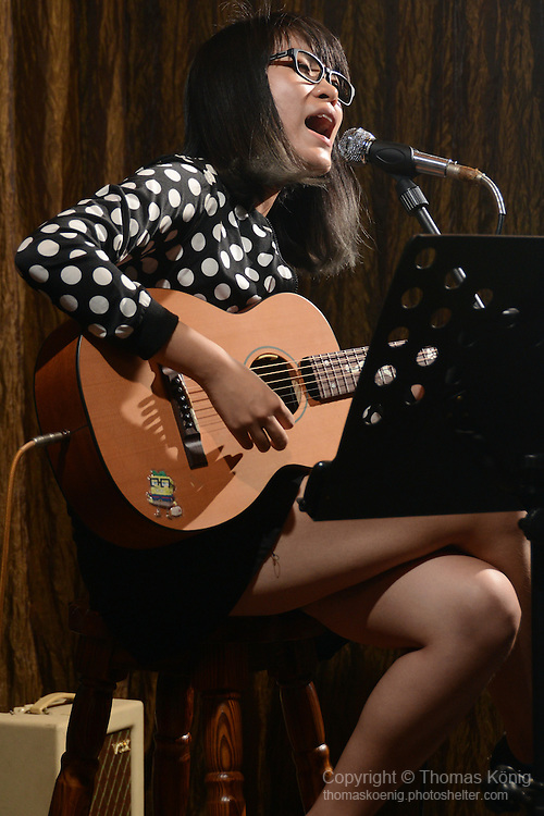 Kaohsiung, Taiwan -- Mi Hsing Hsing performs a live show at DC Stage, Kaohsiung.