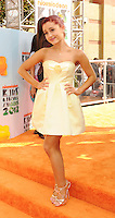 LOS ANGELES, CA - MARCH 31: Ariana Grande arrives at the 2012 Nickelodeon Kids' Choice Awards at Galen Center on March 31, 2012 in Los Angeles, California.
