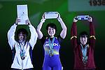 L-R) <br /> Eri Mitsuki, <br /> Namika Matsumoto, <br /> Saeri Ono, <br /> MAY 22, 2016 - Weightlifting : <br /> All Japan Weightlifting Championship 2016 Women's -63kg <br /> Award Ceremony at Yamanashi Municipal Gymnasium, Yamanashi, Japan. <br /> (Photo by AFLO SPORT)