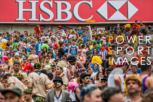 Atmosphere during the Cathay Pacific / HSBC Hong Kong Sevens at the Hong Kong Stadium on 29 March 2014 in Hong Kong, China. Photo by Andy Jones / Power Sport Images