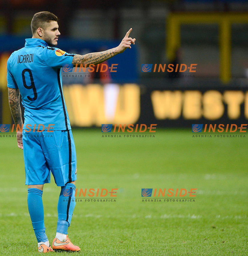 Mauro Icardi Inter<br /> Milano 23-10-2014 Stadio Giuseppe Meazza - Football Calcio Europa League Inter - Saint Etienne. Foto Giuseppe Celeste / Insidefoto