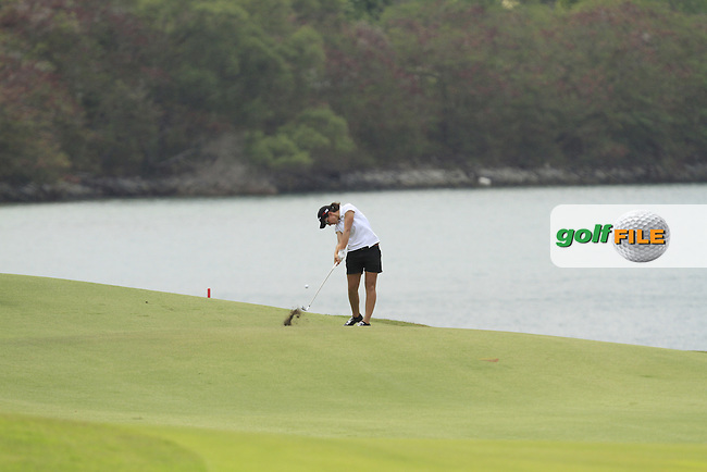 Carlota Ciganda (ESP) on the 15th fairway during Round 3 of the HSBC Women's Champions at the Sentosa Golf Club, The Serapong Course in Singapore on Saturday 7th March 2015.<br /> Picture:  Thos Caffrey / www.golffile.ie