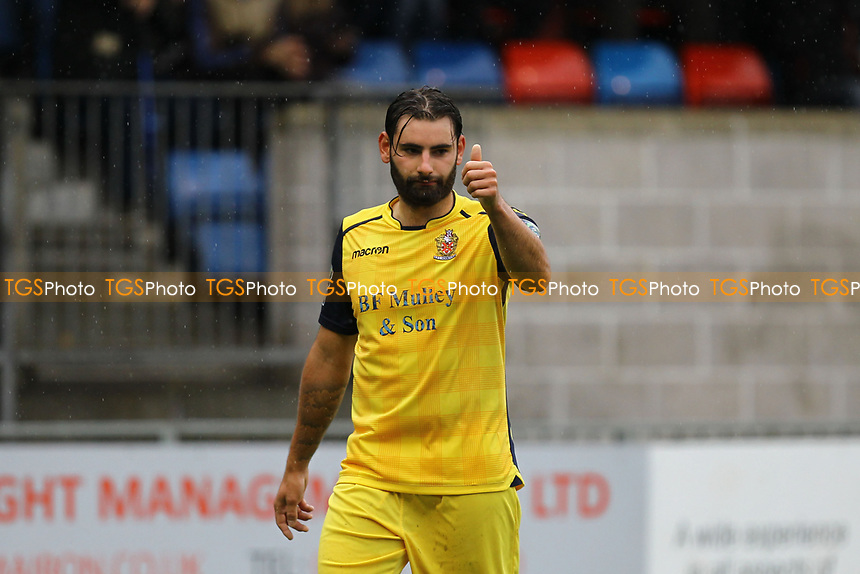 Jamie Hursit of AFC Hornchurch during Hampton & Richmond Borough vs AFC Hornchurch, Emirates FA Cup Football at the Beveree Stadium on 6th October 2018