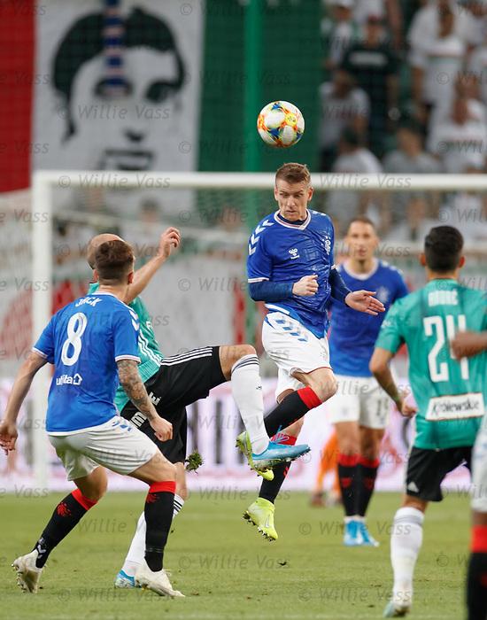 22.08.2019 Legia Warsaw v Rangers: Steven Davis