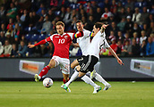 June 6th 2017, Brondby Stadium, in Brondby, Copenhagen, Denmark;  Germany's Julian Draxler (C) and Sebastian Rudy (R) from Germany and Denmark's Christian Eriksen in action during the international  match between Denmark and Germany at the Brondby Stadium