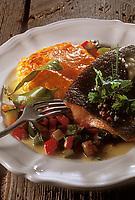 Gastronomie générale / Cuisine générale :  Tartelette de Truite au beurre acidulé