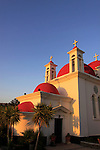 Israel, Capernaum by the Sea of Galilee, the Greek Orthodox Church of the Twelve Apostles