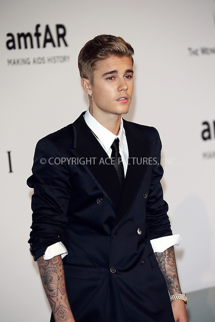 ACEPIXS.COM<br /> <br /> May 21 2014, Cannes<br /> <br /> Justin Bieber arriving at amfAR's 21st Cinema Against AIDS Gala during the 67th Cannes International Film Festival at Hotel du Cap-Eden-Roc on May 21 2014 in Cap d'Antibes, France<br /> <br /> By Line: Famous/ACE Pictures<br /> <br /> ACE Pictures, Inc.<br /> www.acepixs.com<br /> Email: info@acepixs.com<br /> Tel: 646 769 0430