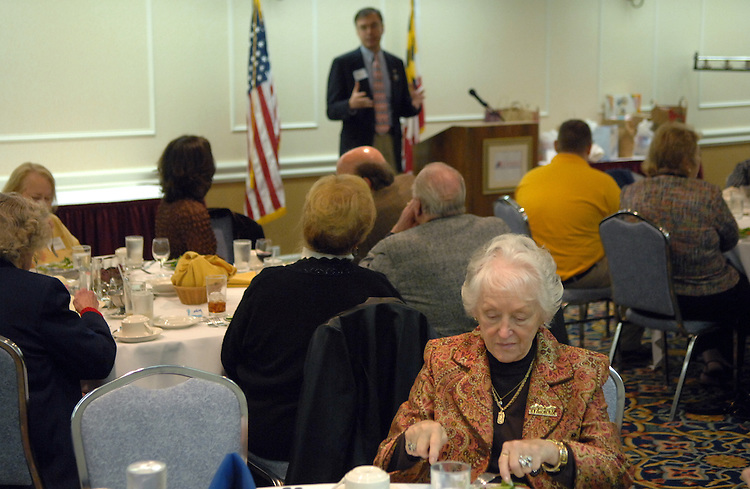 Candidate Andy Harris, R-1st/MD, speaks at a meeting of the Delmarva Republican Women in Ocean City, Maryland.